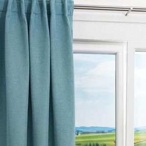Vorhang von LYSEL® Diamond Uni in den Maßen Breite: 140cm Höhe: 245cm in Blau/taubenblau