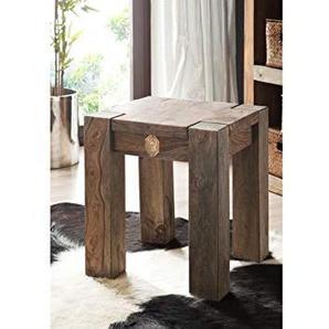 MASSIVMOEBEL24.DE Sheesham Massivholz Hocker Palisander Möbel massiv Holz Nature Grey #10