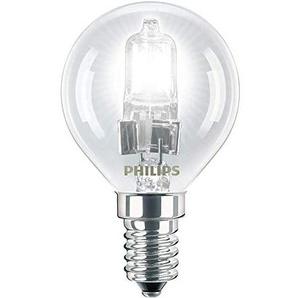Philips Eco Classic Leuchtmittel, energiesparend, P45,28 W, hochwertige Halogenlampe, E14-Fassung, Kugelform, transparent, 3Stück