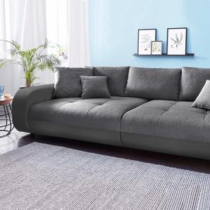 Nova Via Big-Sofa, schwarz, hoher Sitzkomfort