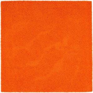 Hochflorteppich Swirls Orange 300x300 cm