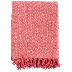 Kuscheldecke, Pink, Baumwolle 130 x 170 cm