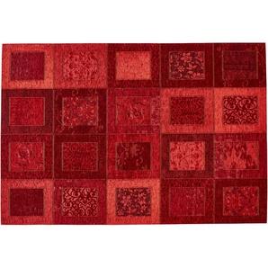 Webteppich  Harmonie | rot | Synthethische Fasern, 34% Polyacryl Chenille, 33% Baumwolle, 33% Polyester | 80 cm |