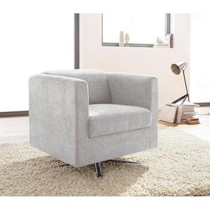 INOSIGN Sessel »Bob« drehbar mit Sternfuß, silber, Feinstruktur weich