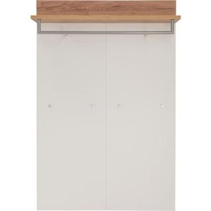 Garderobenpaneel Weiß/Navarra Eiche Nachbildung ca. 96 x 147 x 29 cm