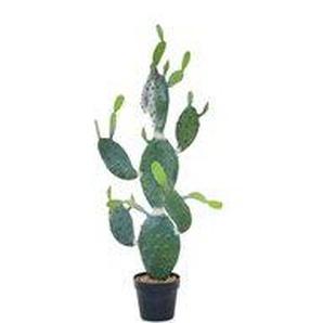Opuntia - Kunstpflanze mit Topf