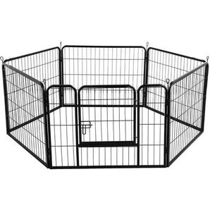 Welpenlaufstall Freilaufgehege Welpenauslauf Hundelaufstall Tierlaufstall für Kleintiere, mit Tür - YAHEETECH