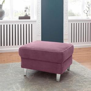 Sit&more Hocker, lila, B/H: 75x47cm, komfortabler Federkern, hoher Sitzkomfort