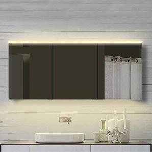 Lux-aqua Design Badzimmer Spiegelschrank mit Alu-Rahmen Badspiegel Lichtspiegel in Warm- & Kaltweiß - YDC 160-70DP