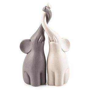 Pajoma Figuren Verliebte Elefanten 2er Set Liebe Hochzeit (Groß 25,5cm)
