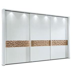 MONDO Schwebetürenschrank ARAME Alpinweiß ca. 300 x 216 x 67 cm