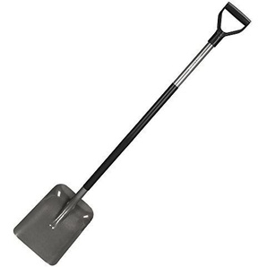 Fiskars Schaufel, Breite 23,5 cm, Länge 132 cm, Stahl-Blatt und Stiel, Schwarz/Grau, Ergonomic, 1001579