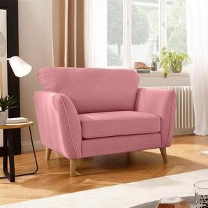 Home affaire Sessel »Marseille«, in skandinavischem Stil, in 3 Bezugsqualitäten, mit Holz-Beinen, rosa, Filzoptik
