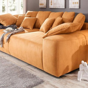 Home affaire Big-Sofa, Breite 302 cm, orange, Microfaser PRIMABELLE®