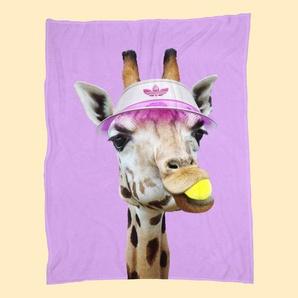 Tennis Giraffe - Fleecedecke