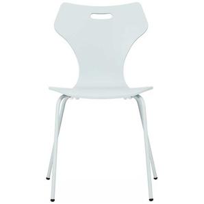 Stuhl in Wei� Metallgestell (4er Set)