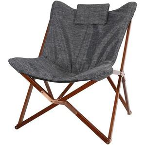 OUTLIV. Schmetterling-Sessel Holz/600D Polyester Braun/Melange/Anthrazit