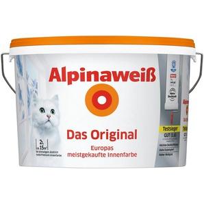 ALPINA Wand- und Deckenfarbe »Alpinaweiß - Das Original«, 2 l