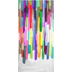 Handtuch »Colorful Stripes 4«, Juniqe, Weiche Frottee-Veloursqualität