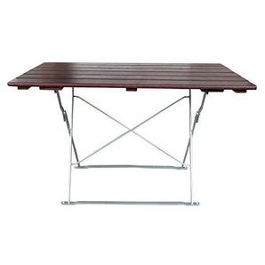 EuroLiving Biergartentisch Gartentisch 120x70 cm Edition-Classic Kastanie/verzinkt
