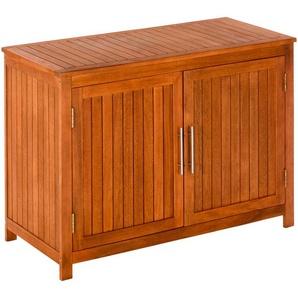 MERXX Outdoor-Küchenschrank »Konsolenschrank«, Eukalyptus, 120x55x85 cm, braun