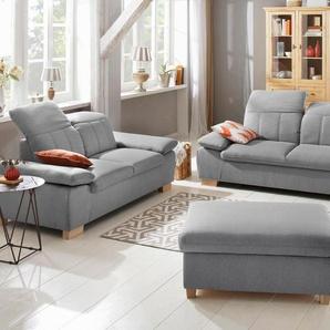 Home Affaire Zweisitzer »Bergamo«, grau, hoher Sitzkomfort