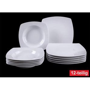 Villeroy & Boch Tafelservice 12 teilig SIMPLY FRESH eckig Weiß