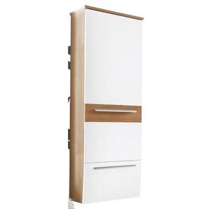 MONDO Dielenschrank SWING Wildeiche Bianco Nachbildung/Lack Weiß ca. 63 x 185 x 36 cm