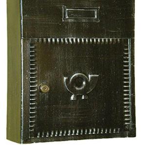 Lorenz Ferart 6010.0Briefkasten Post, Schmiedeeisen, basistruktur schwarz Hand Silber