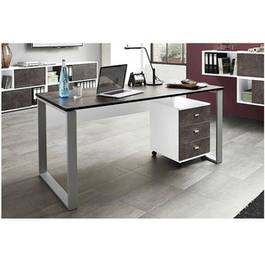 Möbel-Set »Altino« 2-teilig, Schreibtisch mit Container weiß/basalto, Germania-Werke
