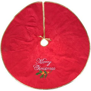 Weihnachtsbaum Nadel Fangen Rock | rot und gold Frohe Weihnachten Design | Maßnahmen 101,6cm perfekt für jeden Größe Baum