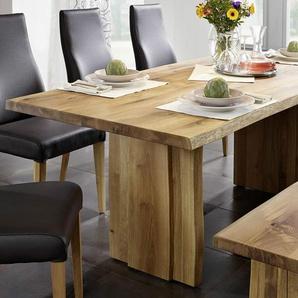 Baumtisch 260x100cm Amber Wildeiche massiv