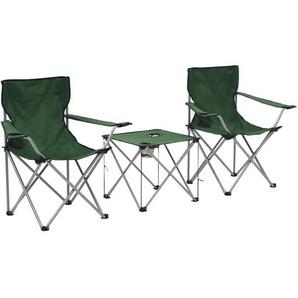 Camping-Sitzgruppe 3 Stk. Grün - VIDAXL