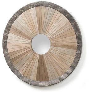 Design Spiegel aus Tanne Massivholz Rund