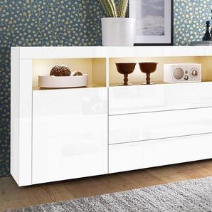 Borchardt Möbel Sideboard, weiß, pflegeleichte Oberfläche, mit Schubkästen