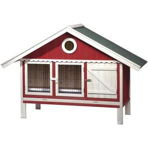 Kleintierstall Schwedenhaus Rot/Weiß