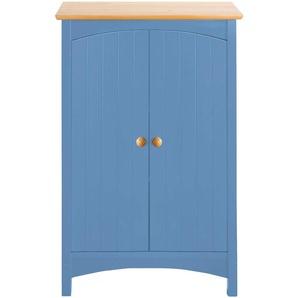 Kommode mit Doppeltür, blau, Gr. 90/60/35 cm,  home