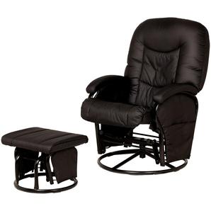 Hauck Still- und Entspannungsstuhl schwarz - Kunstleder Glider ¦ schwarz ¦ Maße (cm): B: 72 H: 102 Polstermöbel  Sessel  Drehsessel » Höffner