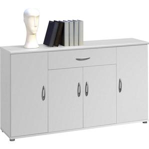 Carryhome: Kommode, Holzwerkstoff, Weiß, B/H/T 118 70 30