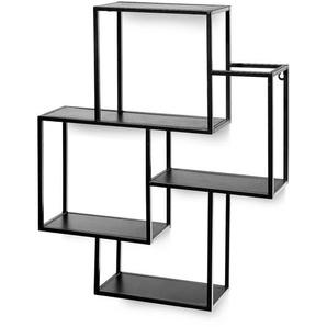 Wandregal Kombination, 54x66x12cm, schwarz