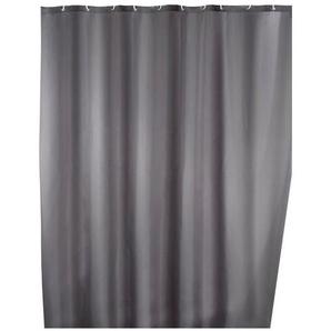 Wenko Anti-Schimmel Duschvorhang Uni Grey, waschbar