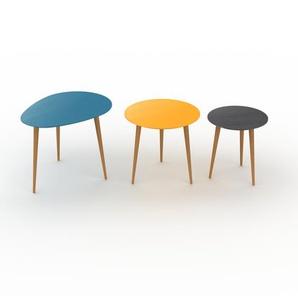 Couchtisch Schwarz - Eleganter Sofatisch: Beste Qualität, einzigartiges Design - 67/50/40 x 50/47/44 x 50/50/40 cm, Konfigurator