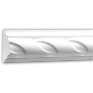 Wand- und Friesleiste PROFHOME 151312 Stuckleiste Zierleiste Wandleiste Neo-Empire-Stil weiß 2 m - PROFHOME DECOR