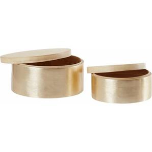 andas Boxen-Set, 2-teilig, Bambus silber