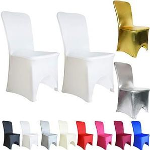 TtS 1 10 20 50 100 Stuhlbezug Stuhlhussen Stuhlüberzug Elastan / Lycra Gewölbte Front Hochzeit Event (50 pcs,weiß)