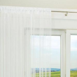 Fadenvorhang von LYSEL® Thread einfarbig in den Maßen Breite: 150cm Höhe: 245cm in Weiß