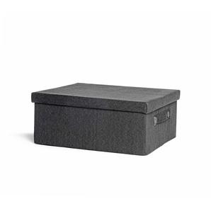 Box mit Deckel, 41x34x17cm, schwarz