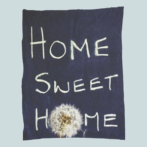 Home Sweet Home - Fleecedecke