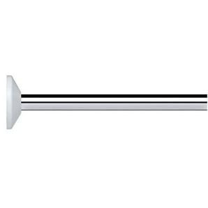 Spirella 10.10329Kreta Universal cm Duschvorhang Winkelstange, Universal verchromt Aluminium Aspekt Chrom Chrom 82x 3x 3cm