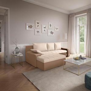 Sit&more Eckcouch, beige, hoher Sitzkomfort